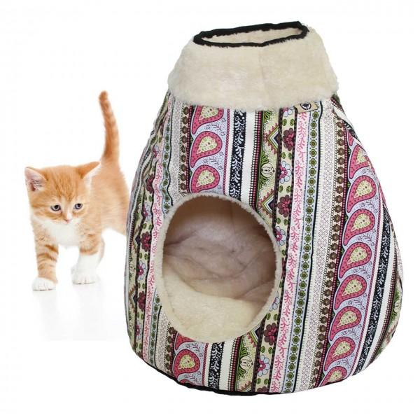 Katzenzelt MAJA - Design Schlaf- und Spielplatz für Katzen