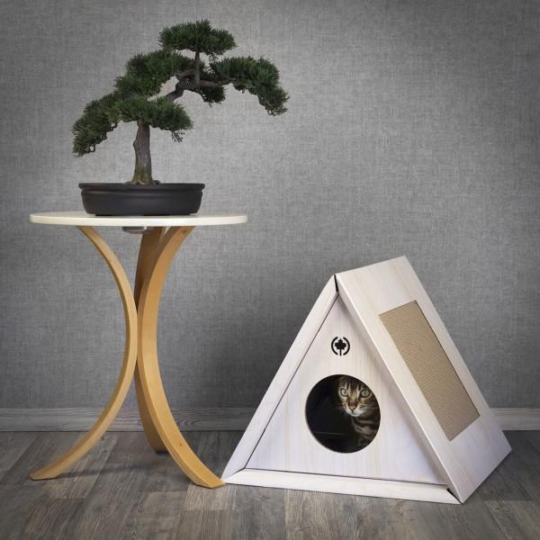 Kratzmöbel Triangle House | weiss | Höhle für Katzen
