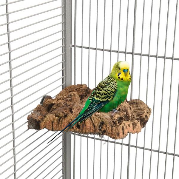 Kork-Eck-Sitzbrett L für Sittiche und Papageien ca. 15x15cm