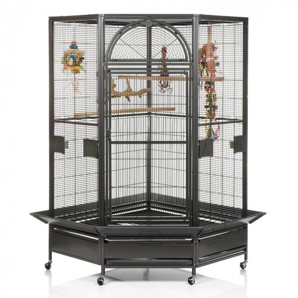Eckvogelkäfig Denver II - Antik von Montana Cages