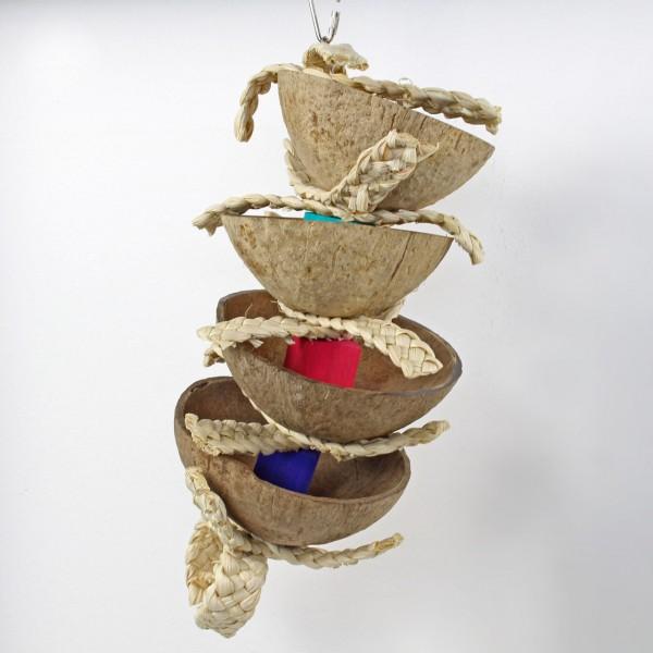 Treatspielzeug Coconut Kabob Bird Toy für Papageien