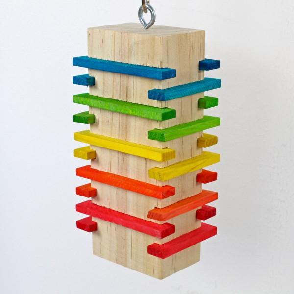 "Papageienspielzeug aus Holz ""Slidy"" - der Knabberspaß !"