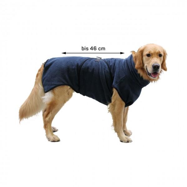 Hundebademantel | Rückenlänge ca.46 cm | Trockenmantel | Blau