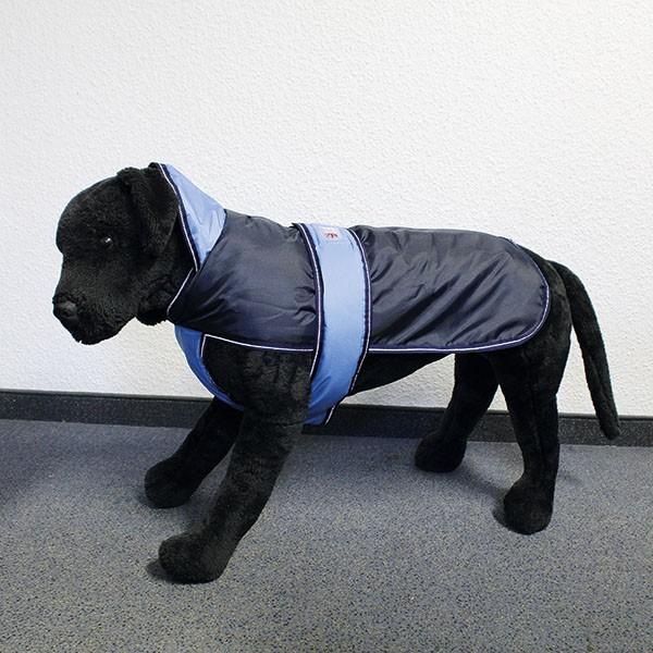 Hundemantel Eisbär - Perfect Coat Blau-Blau Rückenlänge ca. 80cm