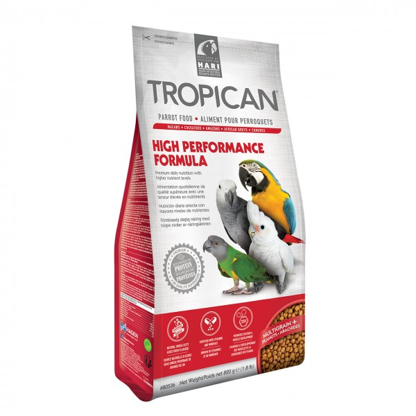 Papageienfutter HARI TROPICAN High Performance 4mm Granules 820gr.