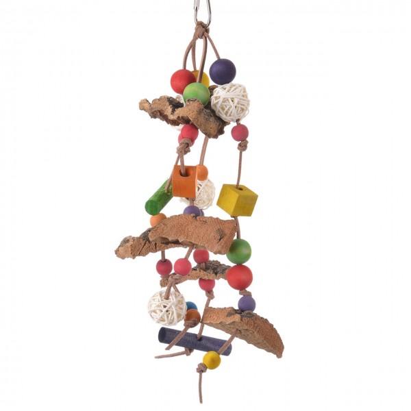 Tree-Bark-Fun I - Leder Holz Sittich Papageien Spielzeug