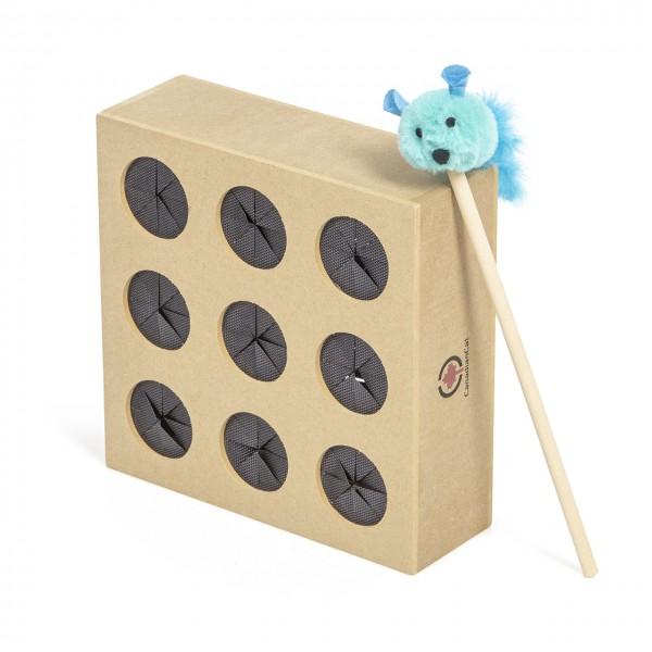 Katzenspielzeug Fang die Maus - duales Geschicklichkeitspiel für Katzen / Activity Box