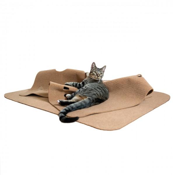 Spielteppich für Katzen - Katzenteppich | beige/braun