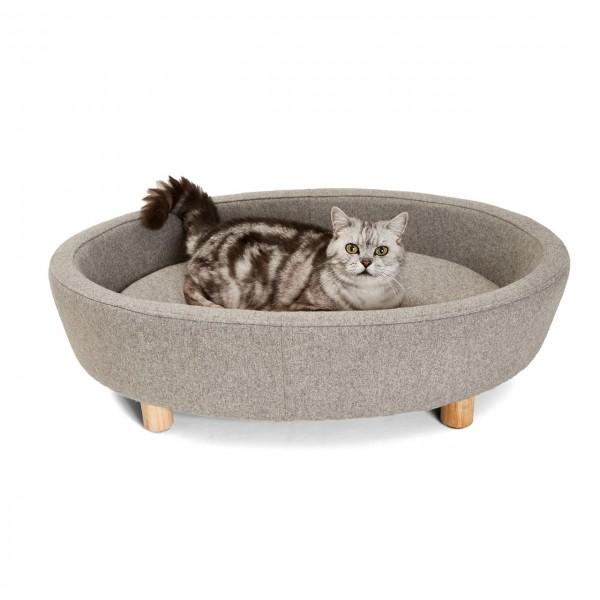 Katzenbett Derby | Grau | Katzensofa, Schlafplatz für Katzen