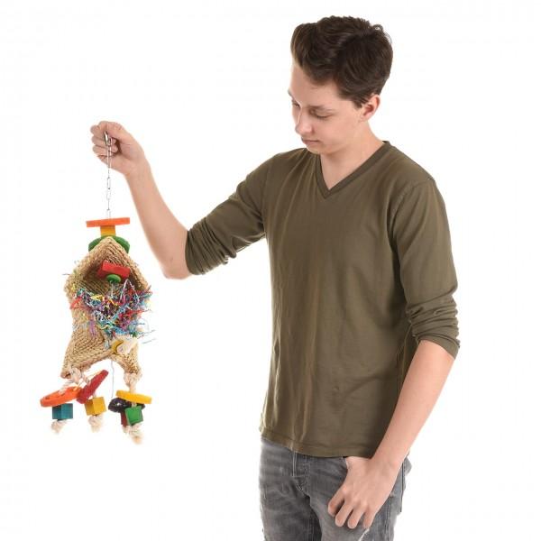 """Papageienspielzeug """"Simsalabim-ein Zauberhut"""" Spielzeug für Papageien"""