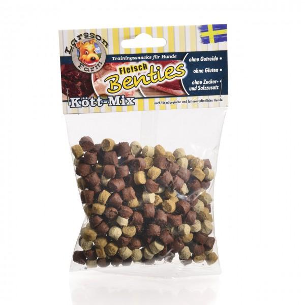 Fleisch-BENTIES Kauartikel - Kött-MIX Hunde Snack Leckerlie 150gr